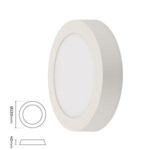 18w Yuvarlak Sıva Üstü LED Panel