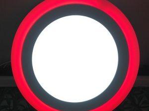 9W Çift Renkli Kırmızı Yuvarlak Led Spot