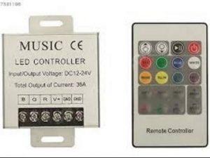 RGB LED Kumandası Müziğe Duyarlı 36/Amper