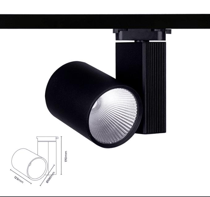 Siyah kasa silindir ray spot 44 Watt