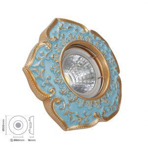 Dekoratif mavi gold spot 3013