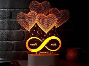 3D görünümlü led gece lambası