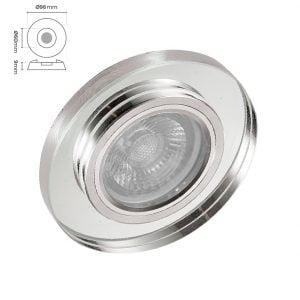Silverled SLV-5502 Kristal Cam Spot Armatür Ortanca