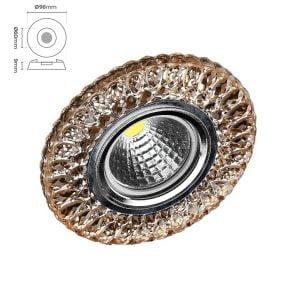 Silverled SLV-5522 Kristal Cam Spot Armatür Şebboy
