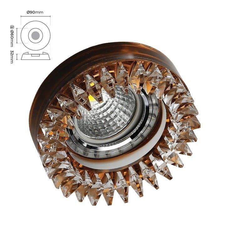 Silverled SLV-5525 Kristal Cam Spot Armatür Kamelya